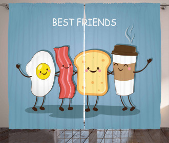 Morning Best Friends Curtain