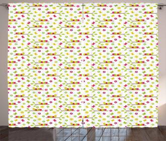 Colorful Preschool Curtain