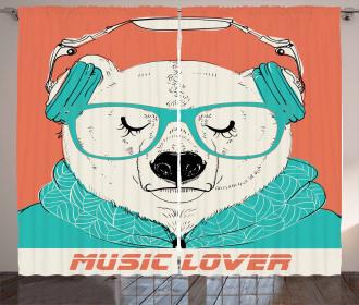 Music Lover Animal Curtain