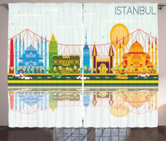 Cultural Landmarks Curtain