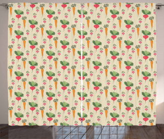Radishes and Beets Curtain