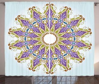 Artistic Leaves Curtain