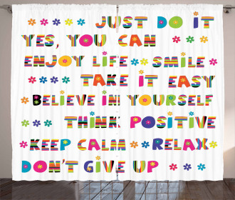 Motivational Slogans Curtain