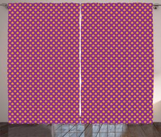 Polka Dot Inspired Pattern Curtain