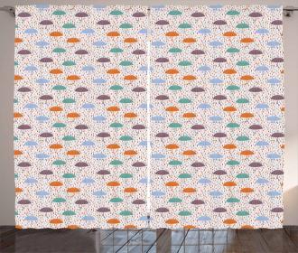 Handle Umbrella Figures Curtain