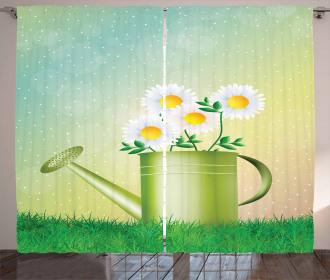 Watering Can Flowerpot Curtain