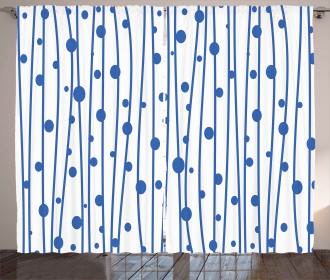 Water Drop Lines Curtain