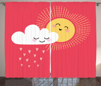 Valentines Cloud and Sun Curtain
