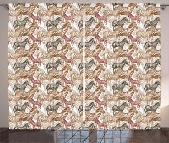 Artistic African Camo Curtain