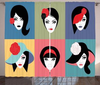 Pop Art Portraits Curtain