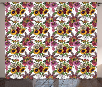 Blooming Garden Bouquet Curtain