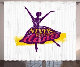 Female Dancer Curtain