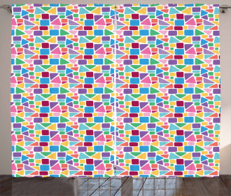 Abstract Mosaic Tile Curtain