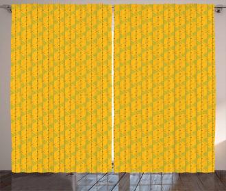 Geometric Dots Lines Curtain