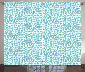 Forget Me Not Flowers Ditsy Curtain