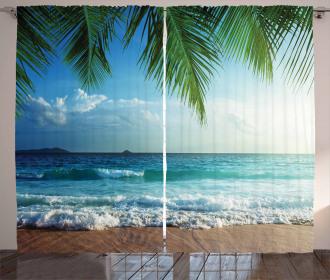 Palms Tropical Island Curtain
