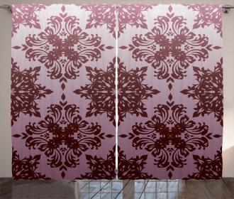 Swirled Classical Motif Curtain