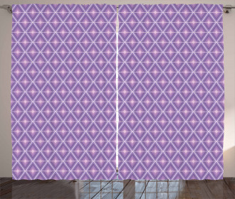 Diamond Shapes Lilac Curtain