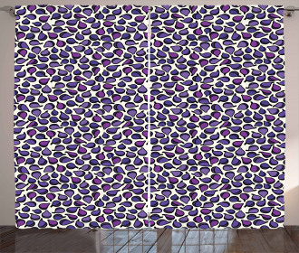 Abstract Figs Purple Tone Curtain