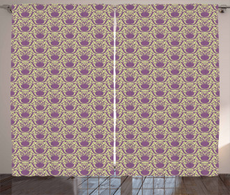 Abstract Damask Style Curtain