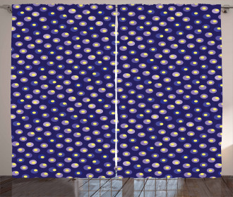Contrast Moire Circles Curtain