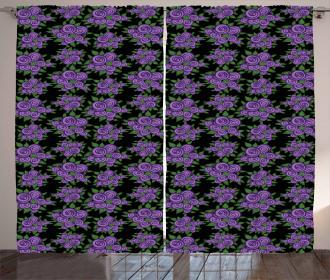 Abstract Garden Bouquet Curtain