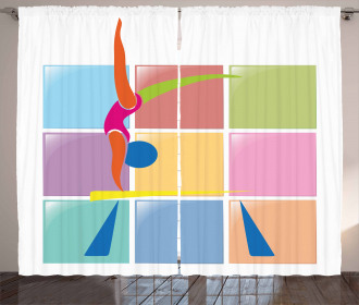 Abstract Athlete Curtain
