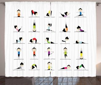 Woman Doing Yoga Curtain