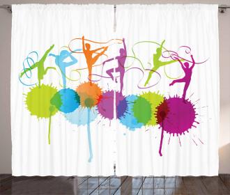 Ribbon Dance Pattern Curtain