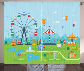 Amusement Park Curtain