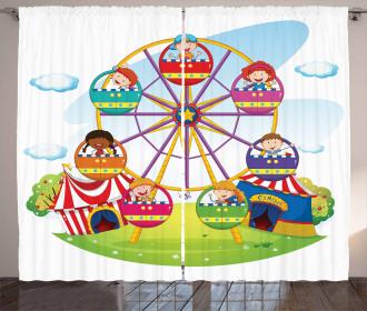 Children Fun Time Curtain