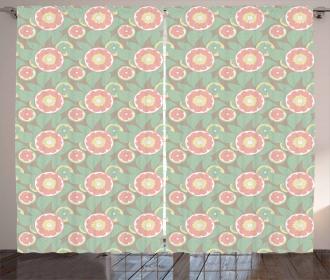Abstract Lemon Slices Curtain