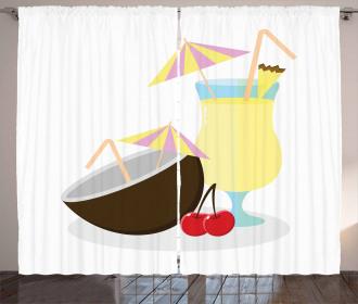 Pina Colada Cocktail Curtain