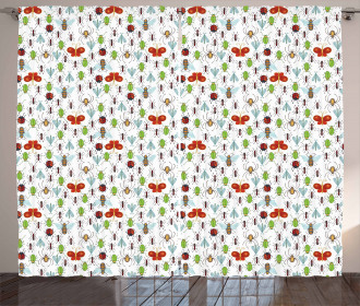 Insects Pattern Ant Bee Curtain