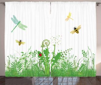 Flourishing Foliage Bees Curtain