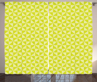 Squares Triangles Mosaic Curtain