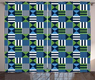 Mosaic Checks Pattern Curtain