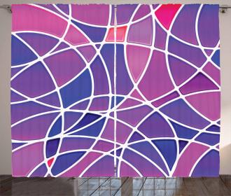 Vibrant Colors Circles Curtain