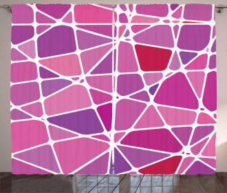 Uneven Color Blocks Curtain