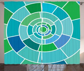 Fractal Spiral Form Curtain