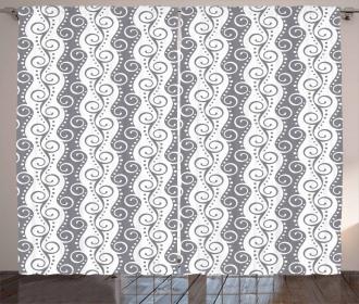 Vertical Stripes Swirls Curtain
