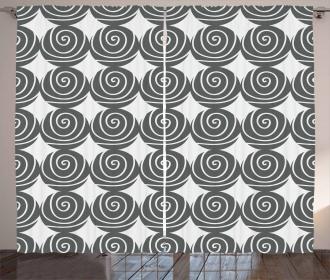 Flush-seamed Circles Curtain