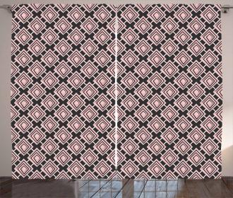 Maze-look Rhombuses Curtain