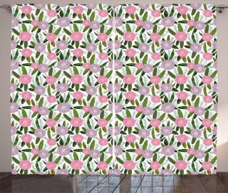 Lilac Protea Rosemary Curtain