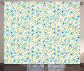 Summer Daisies Vintage Motif Curtain