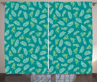 Spring Foliage Green Nature Curtain