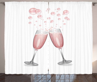 Glasses with Blush Drink Curtain