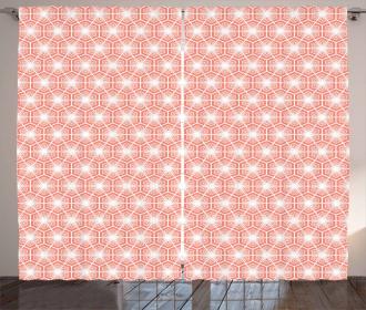 Hexagon Tiles Oriental Curtain