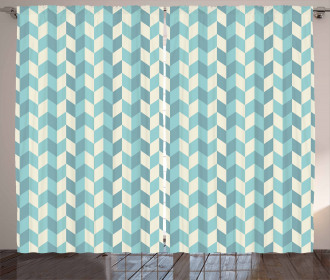 Zigzags in Pastel Colors Curtain