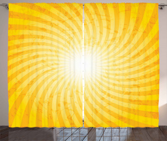 Sunburst Spiral Stripes Curtain